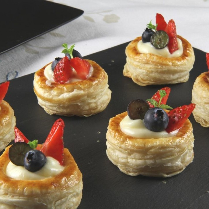 Sweet Custard Fruit Vol Au Ven Cookbuzz