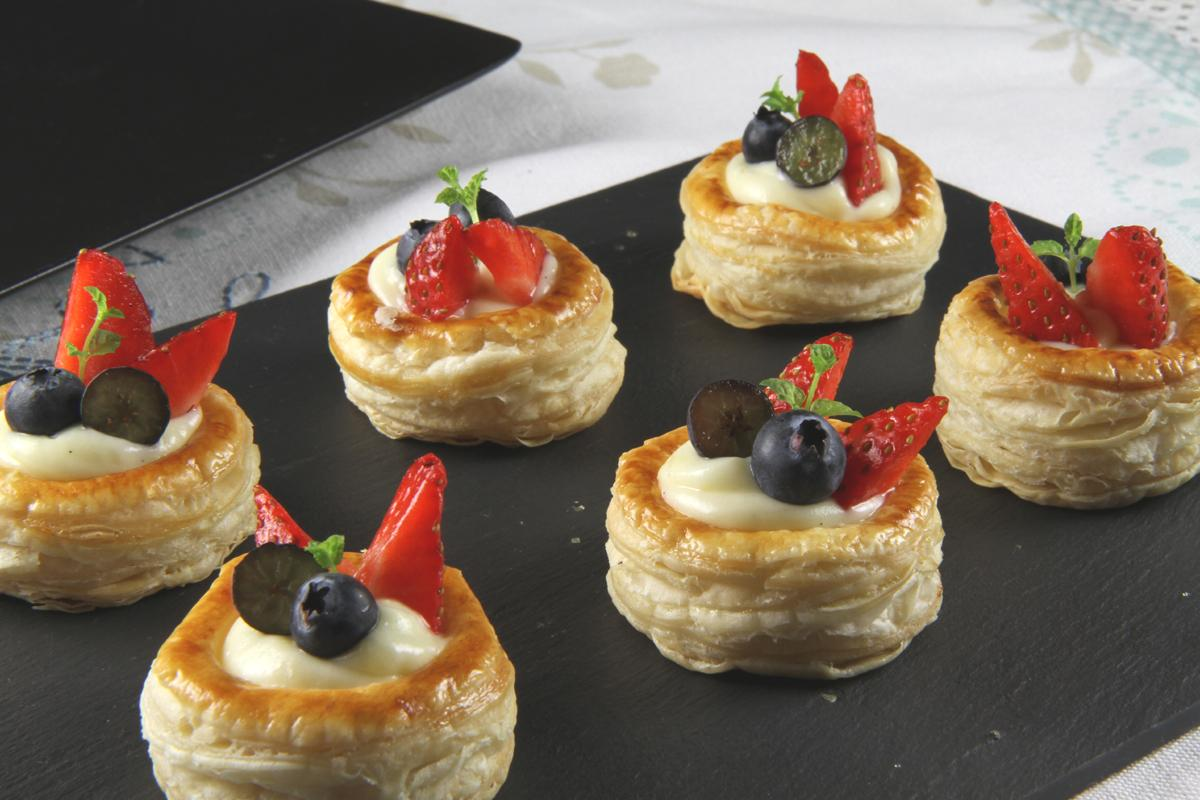 Sweet Custard Fruit Vol Au Ven Cookbuzz